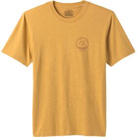 Prana Weekend Wander Camiseta Manga Corta Hombre, marigold heather